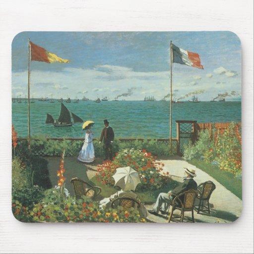 Terrace at the Seaside, Saint Adresse Claude Monet Mouse Pad