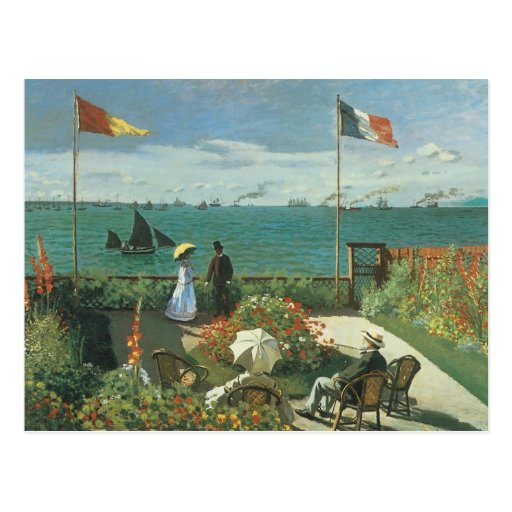 Terrace at the Seaside, Saint Adresse Claude Monet Post Card