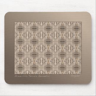 Terrace Brown Geometric Mousepad