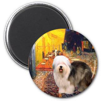 Terrace Cafe - Old English (standing) 2 Inch Round Magnet