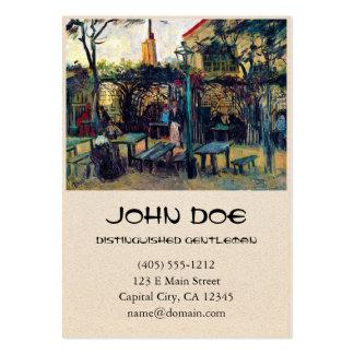 Terrace  Cafe on Montmartre Vincent Van Gogh Business Card Templates