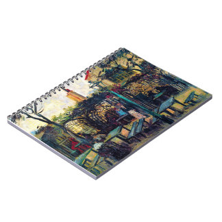 Terrace  Cafe on Montmartre Vincent Van Gogh Notebook