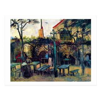 Terrace  Cafe on Montmartre Vincent Van Gogh Postcard