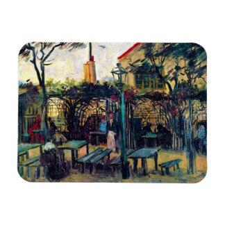 Terrace  Cafe on Montmartre Vincent Van Gogh Rectangular Photo Magnet