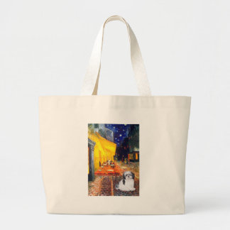 Terrace Cafe - Shih Tzu (A) Large Tote Bag