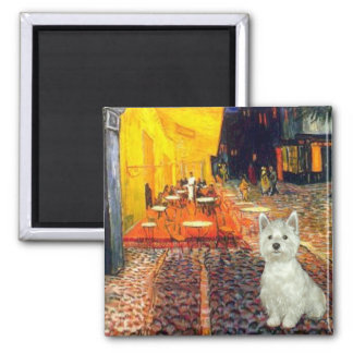 Terrace Cafe - Westie (S) 2 Inch Square Magnet