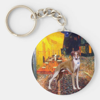 Terrace Cafe- Whippet #12 Keychain