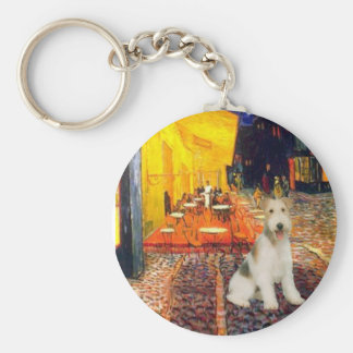 Terrace Cafe - wire Fox Terrier #1 Key Chains