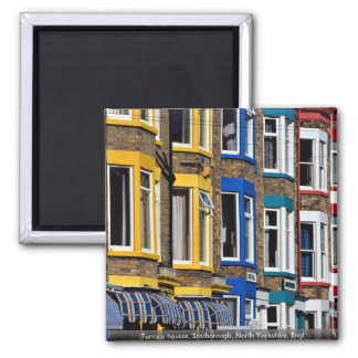 Terrace houses, Scarborough, North Yorkshire, Engl Magnets