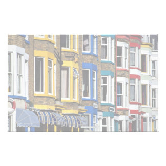 Terrace houses, Scarborough, North Yorkshire, Engl Personalized Stationery