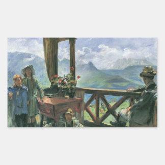 Terrace in Klobenstein, Tyrolia by Lovis Corinth Rectangular Sticker