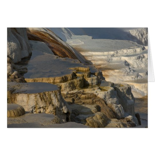Terrace Mountain at Mammoth Hot Springs Card