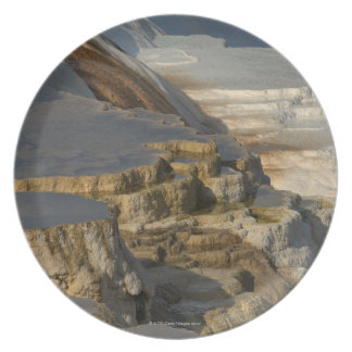 Terrace Mountain at Mammoth Hot Springs Dinner Plate