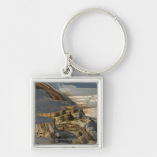 Terrace Mountain at Mammoth Hot Springs Keychain