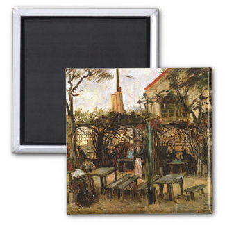 Terrace of Cafe Montmartre (F238)Van Gogh Fine Art Magnet