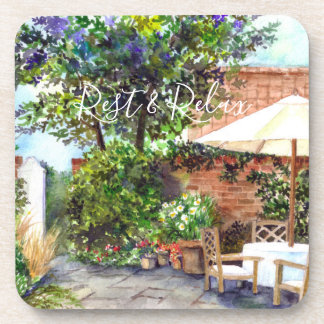 Terrace of The Manor House, York Beverage Coaster