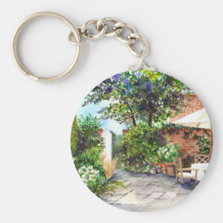 Terrace of The Manor House, York Keychain
