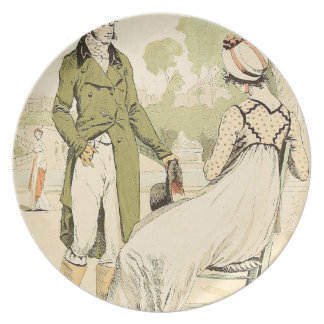 Terrace of the Tuileries 1798 Dinner Plate