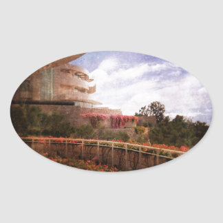 Terraced Architecture Oval Sticker