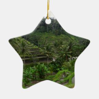 Terraced Rice Fields Ceramic Ornament