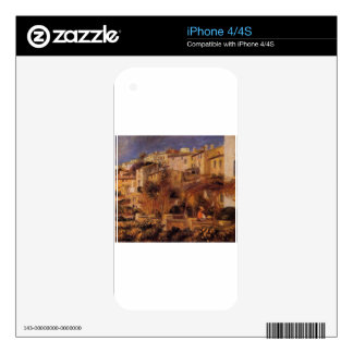 Terraces at Cagnes by Pierre-Auguste Renoir Decals For The iPhone 4