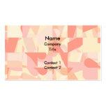 Terracota del modelo, rosa y colores abstractos de tarjeta de visita