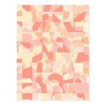Terracota del modelo, rosa y colores abstractos de postal