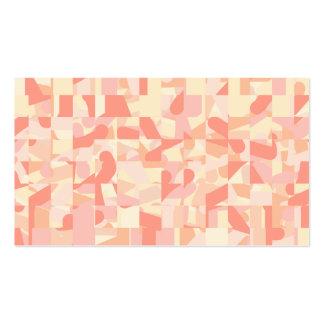Terracota del modelo, rosa y colores abstractos de tarjetas de visita