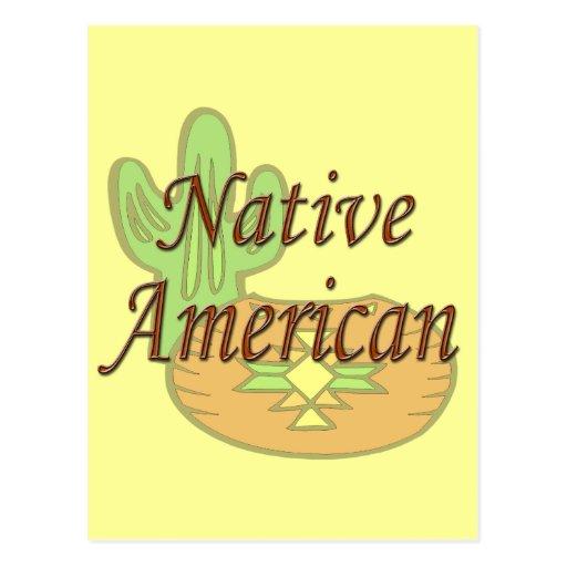 Terracota del nativo americano postal