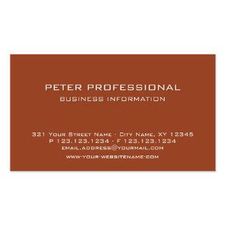 Terracota profesional moderna de la tarjeta de vis tarjetas de visita
