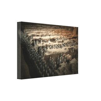 Terracota soldado-China Impresión En Lona