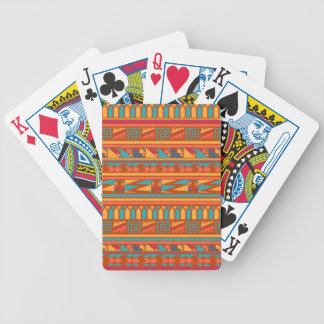 Terracotta Abstract Aztec Tribal Print Pattern Bicycle Playing Cards