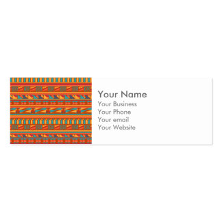 Terracotta Abstract Aztec Tribal Print Pattern Double-Sided Mini Business Cards (Pack Of 20)