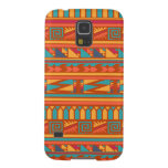 Terracotta Abstract Aztec Tribal Print Pattern Galaxy S5 Cases