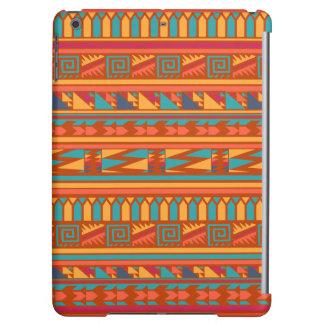 Terracotta Abstract Aztec Tribal Print Pattern iPad Air Case