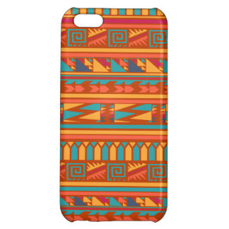 Terracotta Abstract Aztec Tribal Print Pattern iPhone 5C Covers
