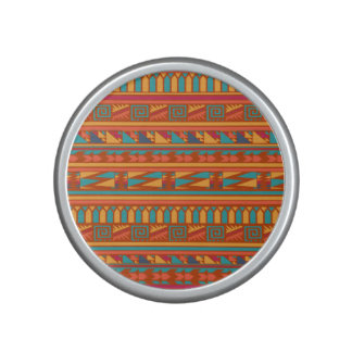 Terracotta Abstract Aztec Tribal Print Pattern Speaker