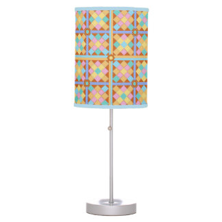 Terracotta and pink Moroccan stylish tile pattern Table Lamps