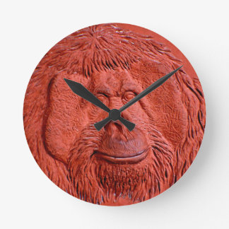 """""""Terracotta Ape"""" by Carter L. Shepard"""" Round Clock"""