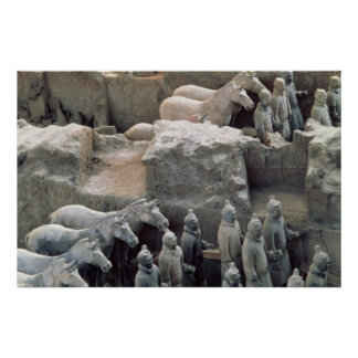 Terracotta Army, Qin Dynasty, 210 BC Print