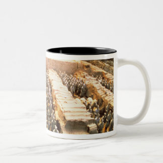 Terracotta Army, Qin Dynasty, 210 BC Two-Tone Coffee Mug
