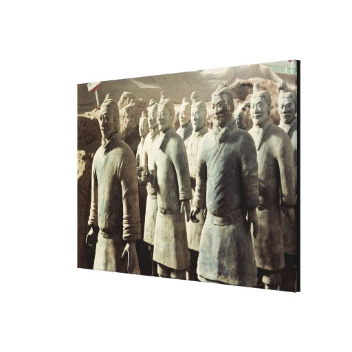 Terracotta Army, Qin Dynasty, 210 BC; warriors Canvas Print