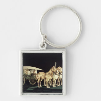 Terracotta Army, Qin Dynasty Silver-Colored Square Keychain