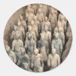 Terracotta Army Round Stickers