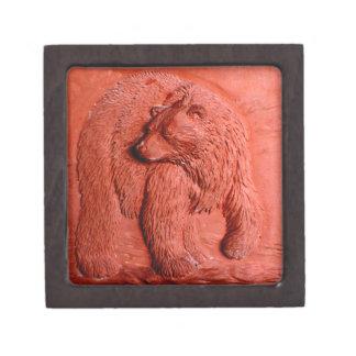"""""""Terracotta Bear"""" by Carter L. Shepard"""" Jewelry Box"""