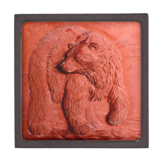 """Terracotta Bear"" by Carter L. Shepard"" Keepsake Box"