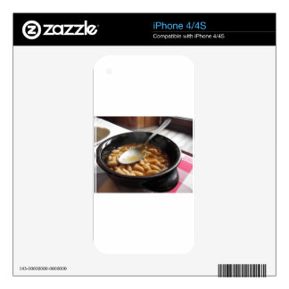 Terracotta bowl with beans . Tuscan typical recipe Decal For The iPhone 4S