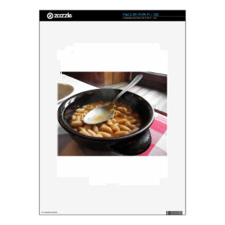 Terracotta bowl with beans . Tuscan typical recipe iPad 2 Skins