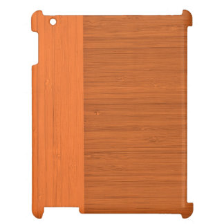 Terracotta Clay Bamboo Border Wood Grain Look Case For The iPad 2 3 4