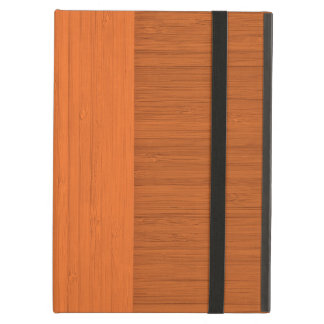 Terracotta Clay Bamboo Border Wood Grain Look Cover For iPad Air